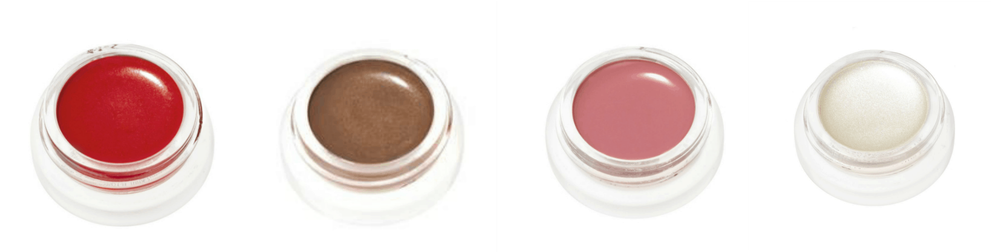 RMS Beauty favorites LIP2CHEEK in Beloved, Buriti Bronzer, LIP2CHEEK in Demure,