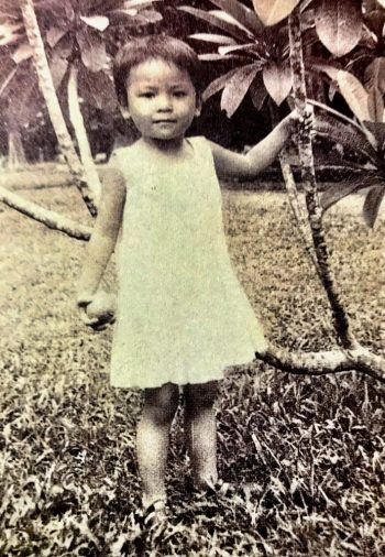 Age 2 before escaping Vietnam