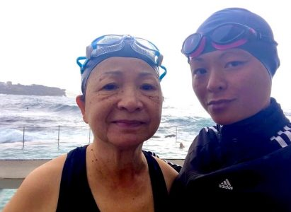 Swimming with my Mother.